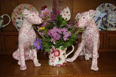 Emma Bridgewater Studio Special Pink Wallpaper Dogs for Collectors Day 2014