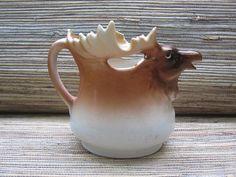 Vintage Austrian Elk or Moose Cream Pitcher by RedoneAndVintage, $16.00