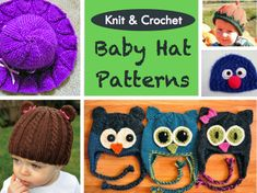 Knit and Crochet Baby Hat Patterns - Craftfoxes