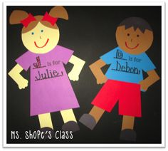All About Me, My Family and Friends Unit All About Me Preschool Theme, All About Me Crafts, Preschool Family, All About Me Activities, Name Activities, Preschool Themes, Preschool Activities, Teaching Themes, Creative Teaching
