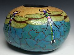 Dragonflies Gourd by Denise Meyers by Stuffyouwantandmore on Etsy, $550.00