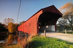 Covered Bridge in Woolwich Township, Ontario