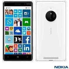 "[SHOPMOB]Nokia Lumia 830 Branco Com 5"", 3g, Windows Phone 8.1, Snapdragon 400 - R$453,20"