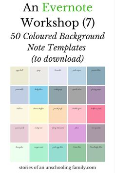 Today, I have something I hope you're going to like: coloured background templates for Evernote notes! I have made 50 templates for you to download and use in your notebooks. How to download …
