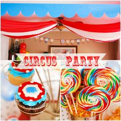 A few cute ideas for a circus birthday party