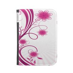 Pretty Pink Sunshine Flourish With Flowers Kindle Cases