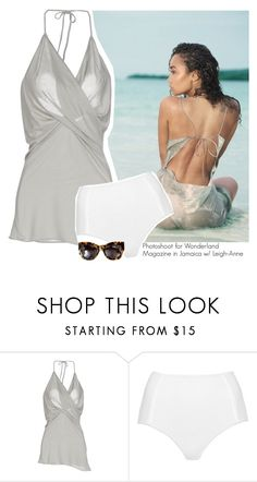 """""""Photoshoot for Wonderland Magazine in Jamaica w/ Leigh-Anne"""" by amberamelia-123 ❤ liked on Polyvore featuring Rick Owens Lilies, Topshop and Karen Walker"""