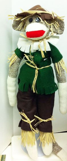 Hey, I found this really awesome Etsy listing at https://www.etsy.com/listing/207528246/sock-monkey-in-scarecrow-wizard-of-oz