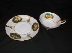 Hand Painted Japan Tea Cup and Saucer from VelsVintage on Etsy, $16.00