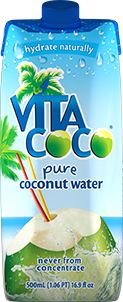 Vita Coco is an all-natural, never from concentrate coconut water. Stacked with naturally occurring electrolytes (and more potassium than a banana), Vita Coco is fat free, cholesterol free, gluten free, so you get all the goodness without the guilt. A pure-face source of all natural hydration.   Website: http://vitacoco.com / Price: $1.99 SRP for 330ml and $2.79 SRP for 550ml