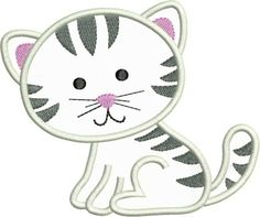 free kitty applique patterns - Google Search