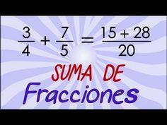 Suma de fracciones - YouTube