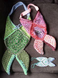 Granny Square Mermaid/Fish Tail Bag -free crochet pattern-