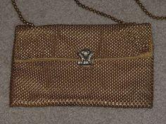 Merlan Vintage & Davis Mesh ton or sac à main avec par Centerprize