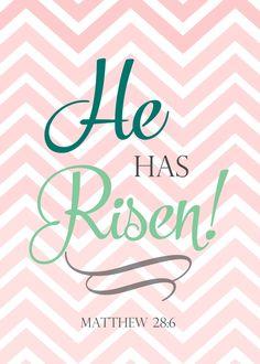 Easter Printable - He is Risen - Christian Easter Decorations www.wildgracewomen.com