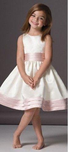 Super cute flower girl dress wedding ideas pinterest flower simple flower girl dress wruched pale pink sash skirt edge mightylinksfo