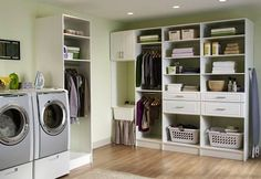 Place to hang clothes fresh out of the dryer.