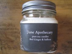 Pure Soy Candle Red Ginger Saffron Small Batch Artisan Fall Fragrance by JuneApothecary on Etsy