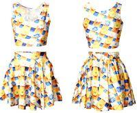 EAST KNITTING S009 2014 NEW fashion brand tops sunflower Print sexy women clothing punk pleated saia dress drop shipping