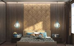 Lovely Want a new look to your bedroom? How about creating an amazing focal point for your room, using just a wall. You can turn an ordinary looking wall, drab with a fading paint color or just a wall that does not stand out and goes virtually unnoticed, into a beautiful m ..