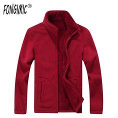FONGIMIC Men Thick Sweatshirts Spring Autumn Casual Popular Zipper Stand Collar Tops Men Coat New Good Quality Fleece Sweatshirt #Affiliate