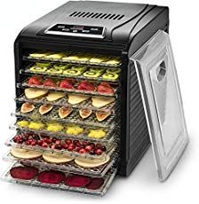 Gourmia Digital Food Dehydrator - 9 Drying Trays Plus Fruit Leather Tray - Digital Temperature Control - Transparent Window - - Black - Free Recipe Book - Kitchen Central Products Directory Food Dehydrator Reviews, Best Food Dehydrator, Dehydrator Recipes, Fruit Dehydrator, Jerky Recipes, Raw Food Recipes, Food Tips, Delicious Recipes, Bread Recipes