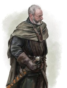 sketch - Game of Thrones - Davos Seaworth by Inna Kapustenko. Ser Davos is the closest thing we have to Ned Stark. Davos, Winter Is Here, Winter Is Coming, Fantasy Rpg, Medieval Fantasy, Character Portraits, Character Art, Character Ideas, Fire Book