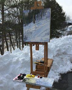 "705 отметок «Нравится», 21 комментариев — Lynn (@boggess_fine_art) в Instagram: «15 x13"" Twenty-seven inches of snow in one storm! #pleinair #pleinairpainting #art #fineart #artist…»"