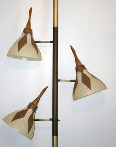 Mid century vintage retro atomic tension pole lamp teak eames vintage tension pole floor to ceiling lamp mid century modern fiberglass shades ebay mozeypictures Image collections