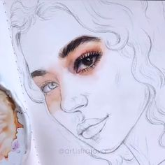 As an artist, I sell all my works. Watercolor Portrait Tutorial, Watercolor Art Face, Watercolor Sketch, Watercolor Portraits, Watercolor Paintings, Acrylic Face Painting, Watercolor Trees, Watercolor Landscape, Abstract Paintings
