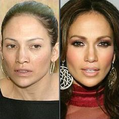 Celebrities without makeup: Jennifer Lopez