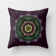 Fractal mandala Throw Pillow by Natalia Bykova on Society6. #mandala, #fractal, #purple, #throwpillow, #pillow, #Society6, #fractaldesign, #psychedelic