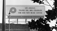 Dorothy Buffum Chandler was the driving force behind the Music Center  In summer 1951, Los Angeles' music scene was floundering. The L.A. Philharmonic played out of a sonically inadequate auditorium leased from the Temple Baptist Church downtown. The Hollywood Bowl was deep in debt. Only four days into its season, it closed.  http://www.latimes.com/entertainment/la-et-cm-ca-music-center-buff-chandler-20141116-story.html