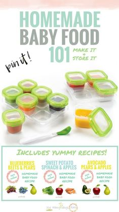Great for beginners/newbies! Just use your blender and crockpot! Includes super easy and yummy homemade baby food recipes. Store, make and feed. Baby Food Makers, Making Baby Food, Best Baby Food Maker, Toddler Meals, Kids Meals, Toddler Food, Food 101, Baby Eating, Homemade Baby Foods