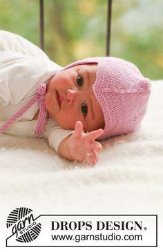 Fairy Rose / DROPS Baby 16-5 - Ingyenes kötésminták a DROPS Designtól Baby Knitting Patterns, Crochet Vest Pattern, Baby Hat Patterns, Baby Hats Knitting, Knitting For Kids, Free Knitting, Free Pattern, Drops Design, Dwarf Hat