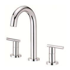 Danze Widespread Parma Trimline Polished Chrome Faucet with Touch-down Drain - Overstock™ Shopping - Great Deals on Danze Bathroom Faucets