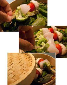 Receta de cocina: Pinchitos de merluza y verduras