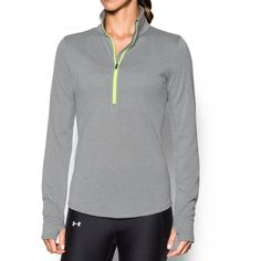 Under Armour Women's Threadborne Streaker 1/2 Zip Medium True Gray Heather