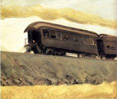 Edward Hopper- Railroad Train