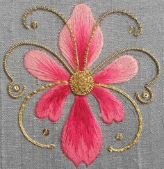 Wonderful Ribbon Embroidery Flowers by Hand Ideas. Enchanting Ribbon Embroidery Flowers by Hand Ideas. Embroidery Works, Hand Embroidery Stitches, Silk Ribbon Embroidery, Hand Embroidery Designs, Embroidery Techniques, Embroidery Patterns, Machine Embroidery, Embroidery Supplies, Flower Embroidery