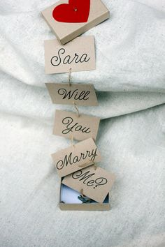 Will You marry me proposal box Marry Me by LovelyRusticWeddings