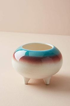 Love the colors! Anthropologie Glazed Ombre Planter #anthropologie #anthrofave #anthrohome #pottery #planter #homedecor #ad