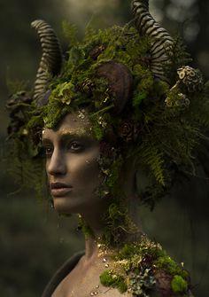 Photographer: Emily Nicole Teague Headpiece: Miss G Designs Horns: Faust & Company Makeup: Kenzie Gregg Model: Kelli Kickham Lighting Assistant: Christina Schellhous More