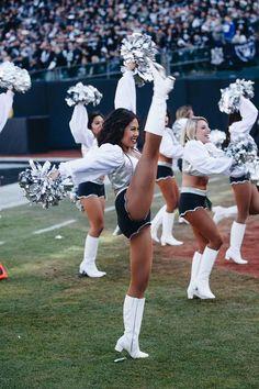 Sights of the Game: Raiderettes Week 13 vs. Oakland Raiders Logo, Nfl Raiders, Raiders Girl, Raiders Cheerleaders, Hottest Nfl Cheerleaders, Cheerleading Shoes, Professional Cheerleaders, Raider Nation, Beautiful Bollywood Actress