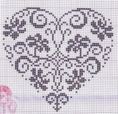 Valentine heart cross stitch.