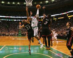 The Boston Celtics, Boston's NBA professional basketball team, is in a battle against the Miami Heat to get to the NBA finals. All of Boston is watching, hoping the team can win championship number 18, more than any other team in league history! The Celtics are just one of the exciting sports teams to follow in the Boston area.