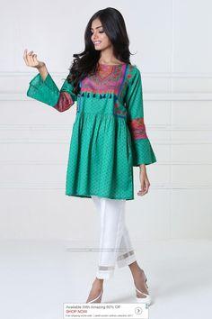 Khaadi Luxury Pret 2017 - Original Online Shopping Store Whatsapp: 00923452355358 Website: www. Stylish Dress Designs, Stylish Dresses, Casual Dresses, Lovely Dresses, Stylish Outfits, Casual Wear, Frock Fashion, Girl Fashion, Fashion Dresses