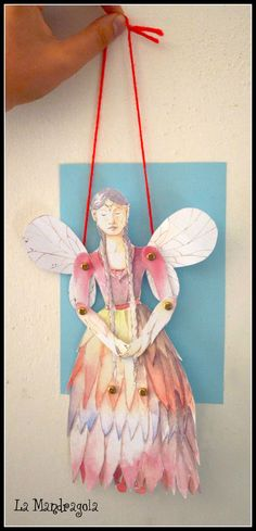 Fairy Queen Paper Doll DIY Home Decor by Mandragola on Etsy, €4.50 #etsy