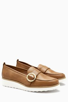 f5bd01e8f15 Buy Tan Leather EVA Buckle Loafers from the Next UK online shop Leather  Loafers