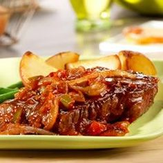 Picante Beef Steaks with Sauteed Onions Allrecipes.com